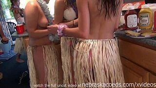 wild stripped hula party in party cove lake ozarks missouri