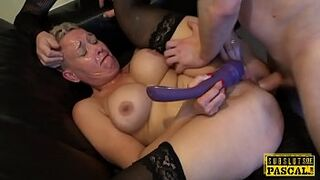 Big Tits uk submissive gilf gets bum roughfucked