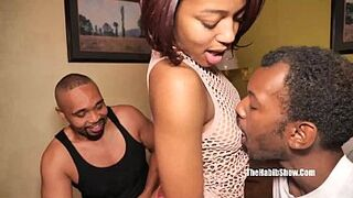 adolescent freak inky lovemore has her first big black cock gangbang