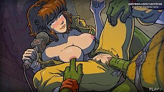 April O'Neil gets her delicious pinky peach monstrously screwed and cummed inside by the ninja turtles l My sexiest gameplay moments l The Mating Season l Part #2