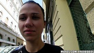 Natural Czech teen is paid money to take a immense dick