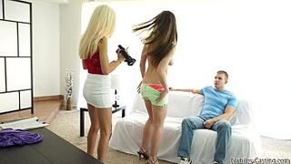 Porn audition leads to cutie trio