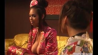 Chesty Asian Beauty Tera Patrick Tongue Fucks Lesbo Asian Charmane Star