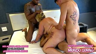 ANUS - GROWN-UP WOMAN DOING CUCKOLD HUSBAND WITH 3 MALES