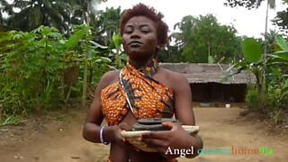 Outdoor masquerade screw Angel queenshome9ja,  African tradition bush intercourse hardcore foursome in (Bush sex act complete)