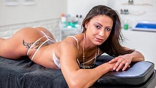 BITCHES ABROAD - Doctor fucks tourist lovely Cassie Del Isla rough from behind