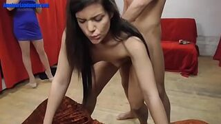 Inexperienced dancer banged in doggy style