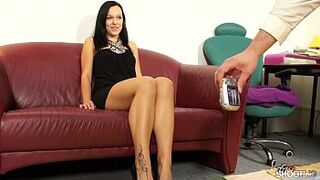 Fakeshooting - Stunning honey takes a massive dick before spunk