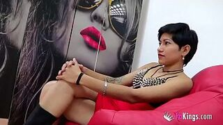 A Latina maid gets impaled by a chap called a.. Opposites atract?