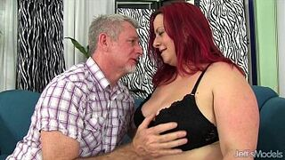 Red-Haired plumper Phoenix Redd hardcore sex act