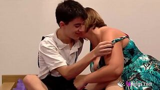 Jordi fucks a teen while her brother-in-law is next to him watching!!!