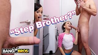 BANGBROS - Adolescent Holly Hendrix Is Almost Caught Fucking Her Stepbrother