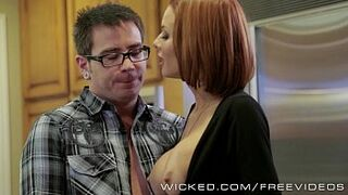 Veronica Avluv gets banged by her stepson