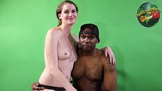 Racially Mixed Part #5 Tae Lit XXX and Aria Khaide - Behind the scenes footage