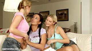 Indoor Sex In Three on Sapphic Erotica with 3 childlike lesbians