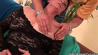 Horny nanny likes his penis in her mouth and hairy pinky peach