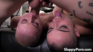 2 short-haired sluts Leigh Raven and Riley Nixon