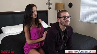 Sexual brown-haired Chloe Amour fucking