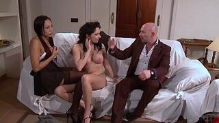 The new maid humped by her new bosses.