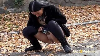 Desperate Piss For Black Haired Amazing