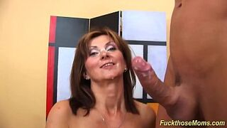 red-haired mother in law strong doggystyle banged