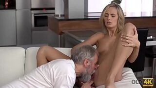 OLD4K. Teenager matron loves pleasurable morning with old husband