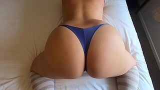 Large Butt Step Sister Lets Bro Worship Her Thick White Butt