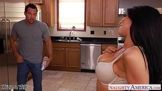 Big Tits brown-haired lady Romi Rain gets nailed